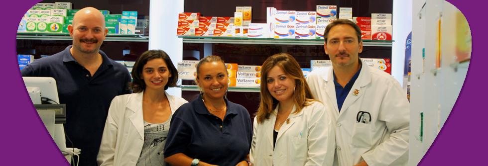 Lo staff della Farmacia Tre Madonne ai Parioli